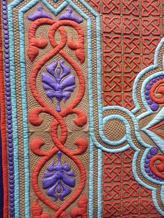"mqx east 2011     From her site: ""Sherry developed an interest for inked quilts in 2007 and developed a unique process she calls Ink-Lique'™ which utilizes permanent pigmented inks and pigments combined with Wholecloth style quilting. This technique has won her numerous prestigious awards and accolades and is creating quite an interest in the quilting community. Her passion for creativity continues to evolve and she cannot wait to inspire you to get your color on!"" http://www.sewfarsewgood.org/"