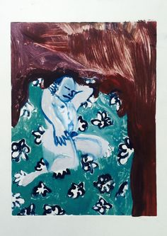 """Holly Froy """"Untitled (v)"""" Monoprint on paper"""