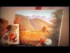 pintar paisaje de los andes  muy bueno , clase de una pintora chilena llamada gallardo.
