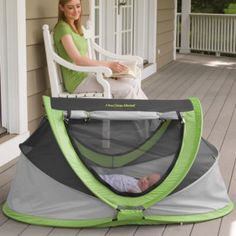 This would be good for the lake. baby travel bed