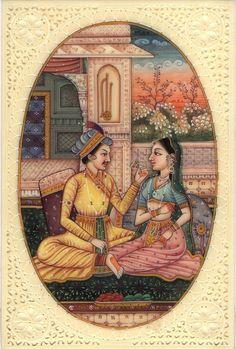 Mughal Miniature Paintings, Mughal Paintings, Indian Paintings, Rajasthani Painting, Madhubani Painting, Indian Art, Handmade Art, Folk Art, Empire