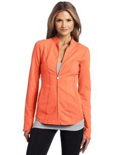 i am BEYOND Women's Curved Jacket  Electric Coral  Medium From #i am BEYOND List Price: $121.00Price: $75.89
