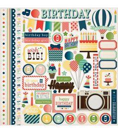 Carta Bella It's A Celebration Cardstock Stickers Element