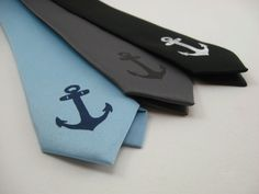 Anchor Skinny Tie. $15.00, via Etsy.