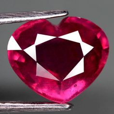 4.32CT.GLOWING! HEART FACET PINKISH RED NATURAL RUBY MOZAMBIQUE #GEMNATURAL
