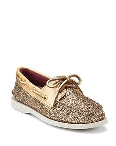 Sperry Top-Sider Boat Shoes - 2 Eye Glitter - Flats - Shoes - Shoes - Bloomingdale's