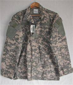 Military Coat Army Desert Combat Uniform Digital Print Shirt Small Long SL NWT