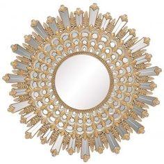 Salinas Sunburst Mirror - Round Mirror - Decorative Wall Mirrors - Ornate Mirrors | HomeDecorators.com $395