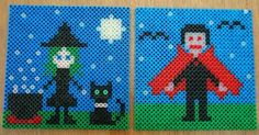 Witch and Vampire Perler Fuse Beads - PDF Pattern