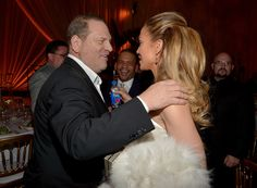 .Co-Chairman of The Weinstein Company Harvey Weinstein (L) and actress/recording artist Jennifer Lopez attend The Weinstein Company's Academy Awards Nominees Dinner in partnership with Chopard, DeLeon Tequila, FIJI Water and MAC Cosmetics on February 21, 2015 in Los Angeles, California.