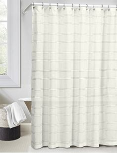 linen and gray fabric shower curtain stripe design driver httpswww
