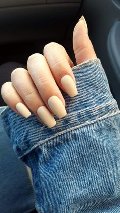 OPI You're so Vanilla matte coffin nails