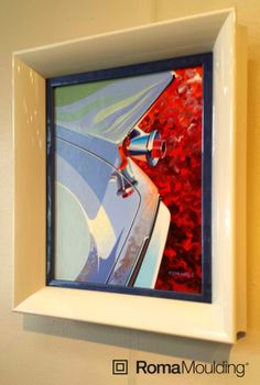 Check out this cool piece framed in our Medina and Lavo moulding from our friends at Art Ventures in Michigan.  Have an amazing day!