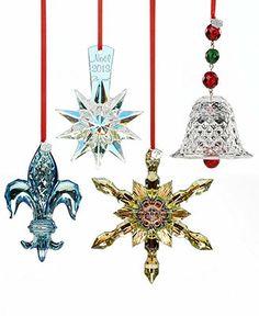 Swarovski Christmas Ornaments Set of 3 Angel Reindeer and