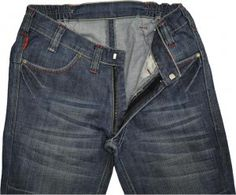 Jeans designed especially for wheelchair users. higher back, longer legs, no back pocket and seams are softer so nothing to dig into your skin while sat down. prevents sores :-D
