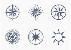 Wind and Nautical Compass Rose Vectors Nautical Compass, Nautical Chart, Dia Do Designer, Rose Clipart, Compass Rose, Compass Tattoo, Vector Art, Clip Art, Free