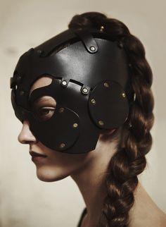 Model: Maryna | Photographer: Sarah Piantadosi | Stylist: Paul Joyce - The Cyclops Apprentice Leather Mask - Spring/Summer 2011