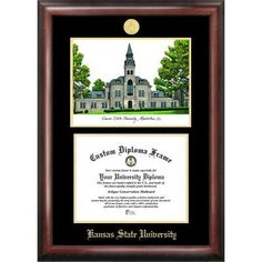 Campus Images NCAA Gold Embossed Diploma with Campus Images Lithograph Picture Frame NCAA Team: