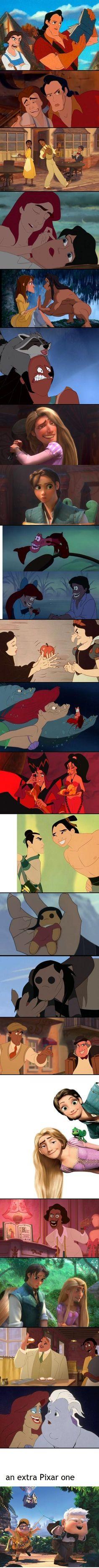 Disney face swaps. Posted on mashable.com (image credit lucygoose on imgur.com) by Neha Prakash.