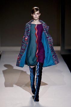 I so need a pair of blue velvet thigh-highs in my life. (alberta ferretti)