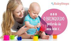 #O_Brinquedo_Preferido_do_meu_Bebé_É #babysteps #infográficos #brinquedos #bebés #crianças #brincar