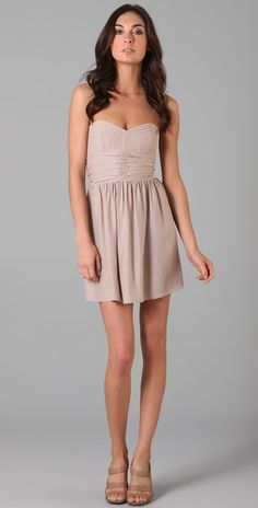 Parker strapless silk dress
