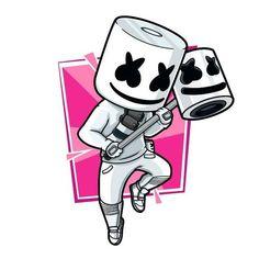 Fortnite Fan art chibi illustration by AngelDRAWIN Marshmallow Pictures, Marshmello Wallpapers, Epic Games Fortnite, Pokemon Birthday, Birthday Party Games, Birthday Table, Fan Art, Boy Pictures, Gaming Wallpapers