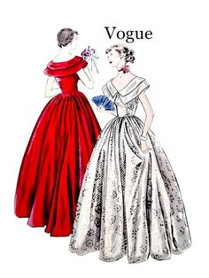40's Vintage Vogue 2165 Sewing Pattern Easy by VintageNeedleFinds