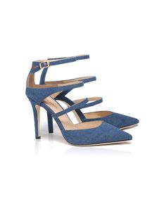Denim HARLEY pumps from the Autumn/Winter 2016 collection - MissSixty Miss Sixty, Fall Winter, Autumn, Jeans, Pumps, Shoe Bag, Denim, Sandals, Stuff To Buy