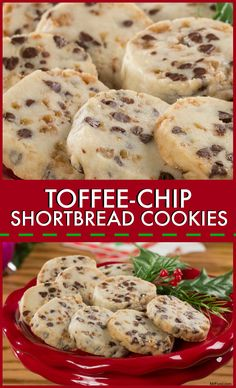 These slice 'n' bake shortbread cookies are loaded with dried cranberries and chocolate chips.