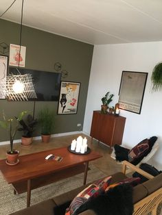 "Living room with plants by Mike & Thomas from the Danish tv-program ""Nybyggerne"""