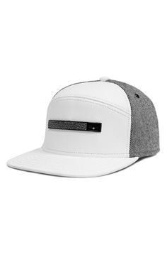Melin 'Red Label Collection - The Bar' Horizon Fit Nappa Leather Flat Brim Baseball Cap (Limited Edition)