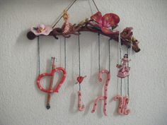 Hand made gifts for kid's rooms! Wind Chimes, Gifts For Kids, Kids Room, Rooms, Ornaments, Facebook, Handmade Gifts, Outdoor Decor, Girls