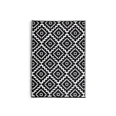 Teppich Outdoor Marokko schwarz ca L:90 x B:150 cm