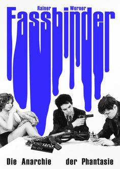 Poster for the Rainer Werner Fassbinder month at the Xenix Cinema in Zurich