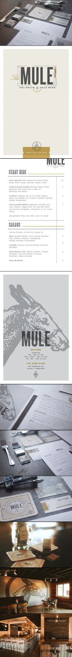 The Mule menu & restaurant branding (by Foundry Collective)                                                                                                                                                     More                                                                                                                                                                                 More