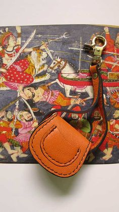Tangerine Mini Gigi, Chiaroscuro, India, Pure Leather, Handbag, Bag, Workshop Made, Leather, Bags, Handmade, Artisanal, Leather Work, Leather Workshop, Fashion, Women's Fashion, Women's Accessories, Accessories, Handcrafted, Made In India, Chiaroscuro Bags - 1