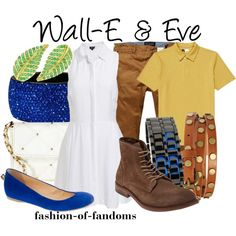 Wall-E and Eve Disneybound