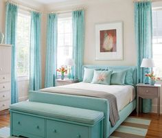 DIY Home Decor Ideas - Tiffany Blue Teen Room Ideas - Click Pic for 47 Decor Ideas for Girls Rooms