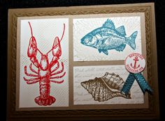 By the Tide Stampin Up Card Ideas | ... Pursuit of Stampin'ess: By the Tide sea life - ocean Stampin Up cards