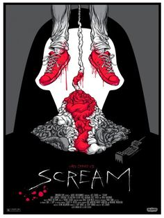 BROTHERTEDD.COM - fuckyeahmovieposters:   Scream by Alex Pardee Horror Movie Posters, Horror Icons, Horror Movies, Film Posters, Art Posters, Slasher Movies, Vintage Posters, Alex Pardee, Arte Horror