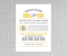 Nora Wedding Invitation PRINTABLE