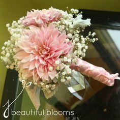 Sarah and Eric- Toledo, Ohio Wedding Flowers Single Flower Bouquet, Dahlia Wedding Bouquets, Dahlia Bouquet, Orange Wedding Flowers, Blush Bouquet, Bride Bouquets, Bridesmaid Bouquet, Floral Wedding, Hand Bouquet