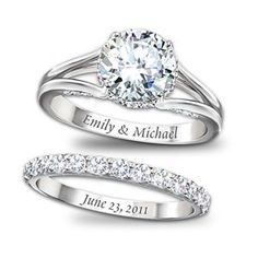 "This is more of what I had in mind... Funny how it says Emily:) But I would want it to say ""Bubby and Emmy"" and then whatever day we get married on.... Do u like this?"