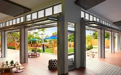 Seven individually themed 'homes' adapt to children's changing activities and needs throughout the day.   The Architecture of Early Childhood: A centre like an 'Aussie backyard'