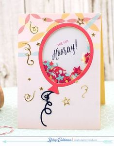 Hip, Hip , Hooray Card by Betsy Veldman for Papertrey Ink (June 2015)