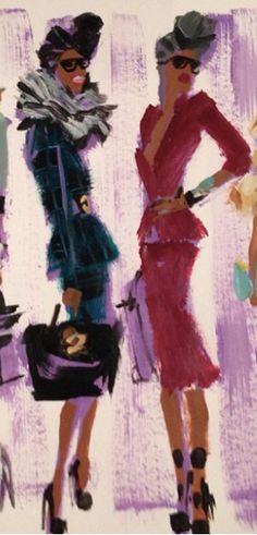 """Fashion illustration by Donald """"Drawbertson"""" Robertson."""