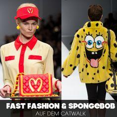 Mc Donald`s und SpongeBob auf dem Laufsteg bei Moschino.  Klingt crazy? Ist es auch!