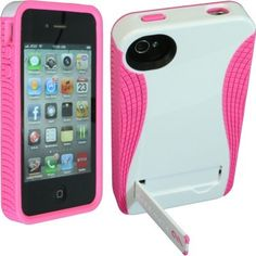 [White/Pink] Hard Case w/ Stand for #iPhone 4/4S - http://tryth.at/efjb2