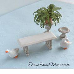1 24 Half Scale Garden Bench Dollhouse Miniature Seating | eBay